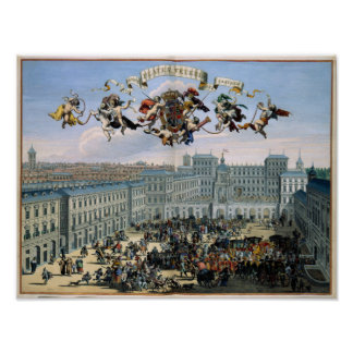 View of the City of Turin Italy 1682 Poster