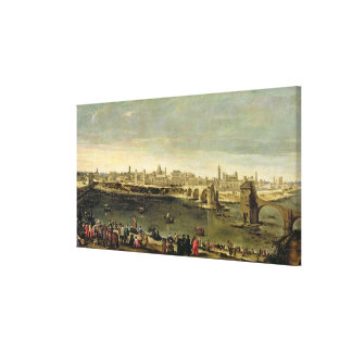 View of the City of Zaragoza Canvas Print