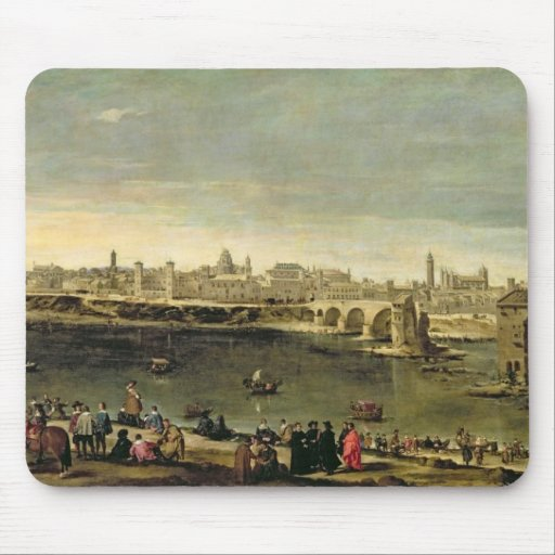 View of the City of Zaragoza Mousepads