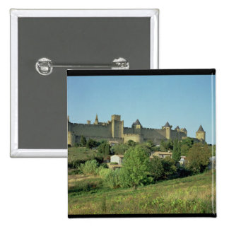 View of the city walls pinback buttons
