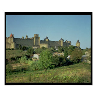View of the city walls poster