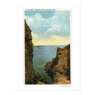 View of the Cleft at Perkins Cove Postcard