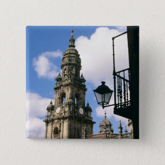 View of the Clock Tower at the corner of the Pinback Button