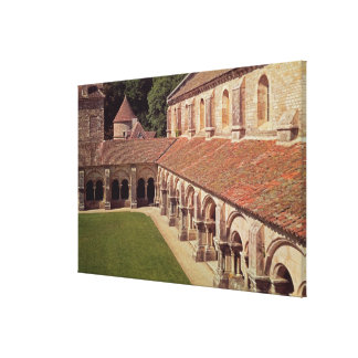 View of the cloister 2 canvas print