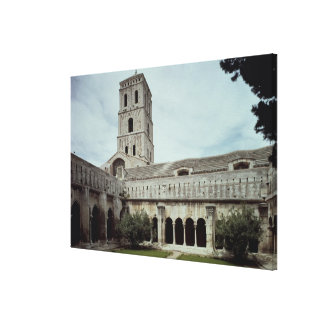 View of the cloister gallery wrapped canvas