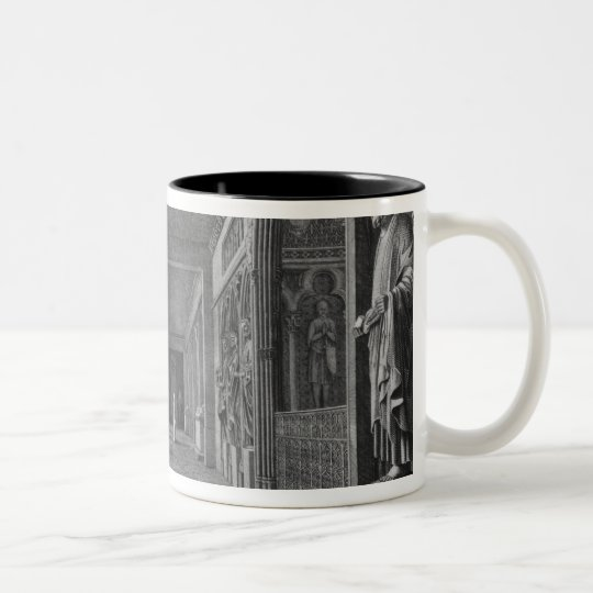 View of the cloister, Musee des Monuments Two-Tone Coffee Mug