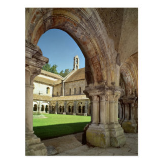 View of the cloister postcard