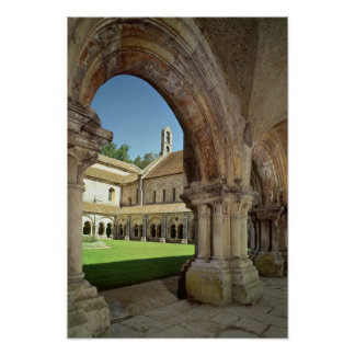 View of the cloister poster