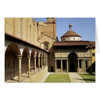 View of the cloisters and the Pazzi Chapel Card