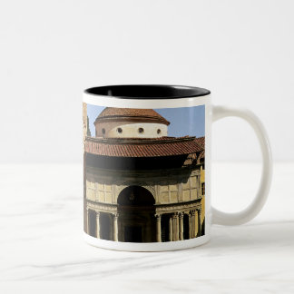 View of the cloisters and the Pazzi Chapel Two-Tone Coffee Mug