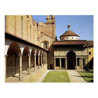 View of the cloisters and the Pazzi Chapel Postcard