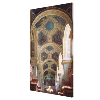 View of the coffered Library ceiling with gilded s Stretched Canvas Prints