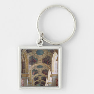 View of the coffered Library ceiling with gilded s Keychain