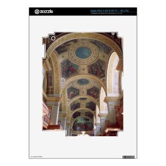 View of the coffered Library ceiling with gilded s iPad 3 Decals