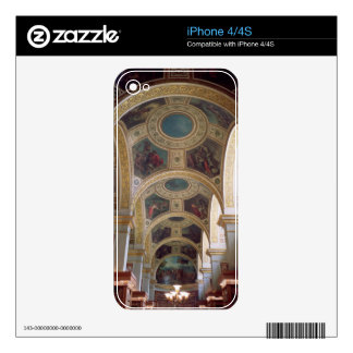 View of the coffered Library ceiling with gilded s Skin For iPhone 4S