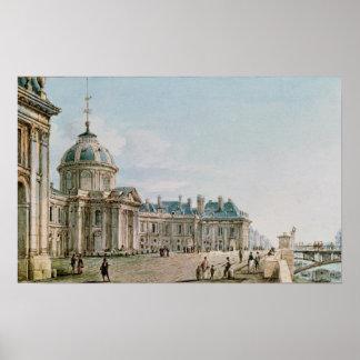 View of the College des Quatre Nations, Paris Poster