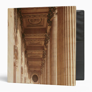 View of the colonnade of the Louvre 3 Ring Binder