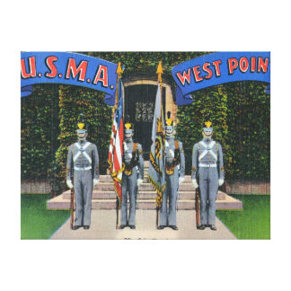 View of the Color Guard Standing Alert Canvas Print