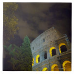 View of the Coloseum in Rome at night Ceramic Tiles