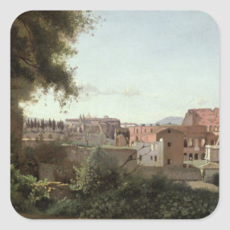 View of the Colosseum from the Farnese Gardens Square Sticker