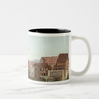 View of the Colosseum from the Farnese Gardens Two-Tone Coffee Mug