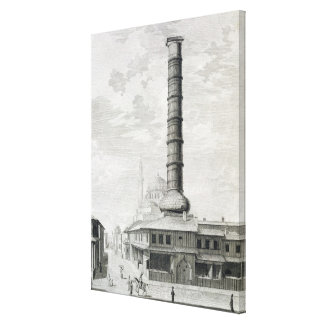 View of the Column of Constantine and the Principa Canvas Print