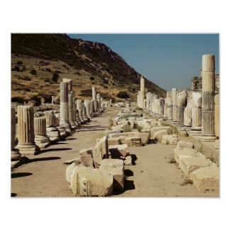 View of the columns on the Upper Market Agora Poster