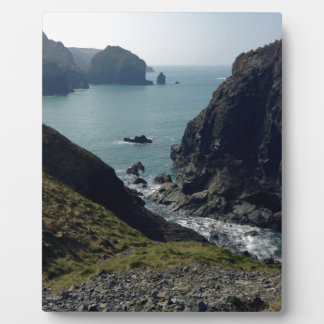 View of the Cornish coast Plaque