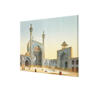View of the Courtyard of the Mesdjid-i-Shah, Isfah Gallery Wrap Canvas