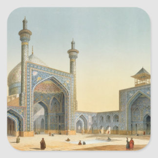 View of the Courtyard of the Mesdjid-i-Shah, Isfah Square Stickers