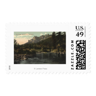 View of the Crags, Castle Rock Postage