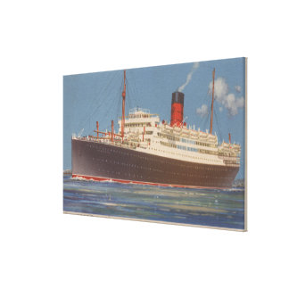 View of the Cunard R.M.L. Franconia Stretched Canvas Print