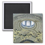View of the cupola with angel musicians 2 inch square magnet