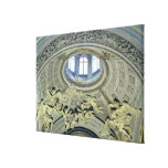 View of the cupola with angel musicians gallery wrap canvas
