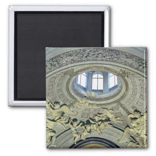View of the cupola with angel musicians fridge magnets