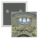 View of the cupola with angel musicians pinback button