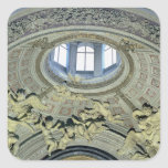 View of the cupola with angel musicians square sticker