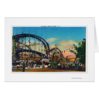 View of the Cyclone Rollercoaster # 1 Card
