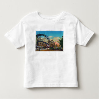 View of the Cyclone Rollercoaster # 1 Toddler T-shirt