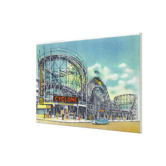 View of the Cyclone Rollercoaster # 2 Canvas Print