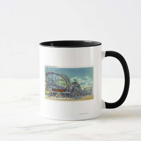 View of the Cyclone Rollercoaster # 2 Mug
