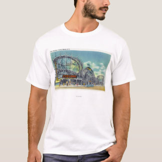 View of the Cyclone Rollercoaster # 2 T-Shirt