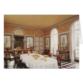 View of the dining room card