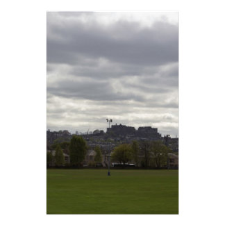 View of the distant Edinburgh Castle in Scotland Personalized Stationery