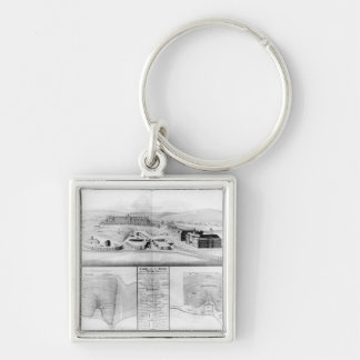 View of the Dockyard at Plymouth, 1608 Keychain