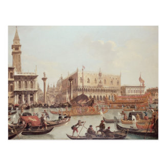 View of the Doge's Palace and the Piazzetta Postcard