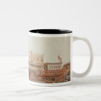 View of the Doge's Palace and the Piazzetta Two-Tone Coffee Mug