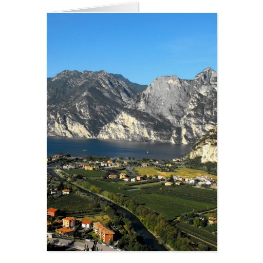 View of the Dolomite mountains of Northen Italy Card