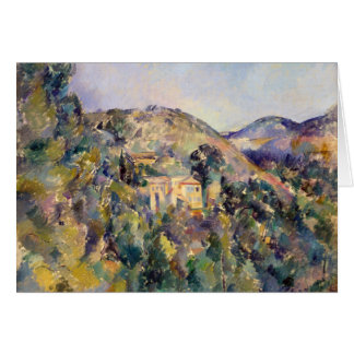 View of the Domaine Saint-Joseph - Paul Cézanne Greeting Card