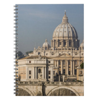 View of the dome of St Peter's Basilica with Notebook